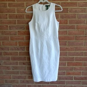 Ralph Lauren White Sleeveless Sheath Dress 10